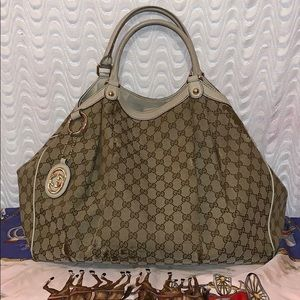 Authentic Gucci Sukey Large Tote Bag